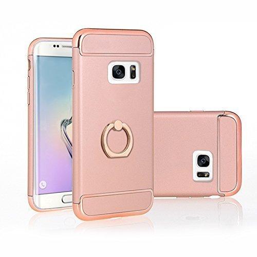 FINOO ®   Samsung Galaxy S7 Hardcase Handy-Hülle   Hart-Back Cover Schale mit Edel Optik  Tasche Case mit Ultra Slim Rundum-schutz   stoßfestes dünnes Bumper Etui   rose gold
