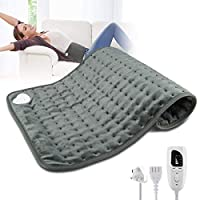"‏‪Heating Pad,Electric Heating Pad 12""x24"" Large Heating Pads for Back Pain Auto Shut Off Heat Pad Moist Heating Pad with Timer,6 Temperature Settings Heated Pad for Neck,Shoulder,Elbow,Machine Washable‬‏"