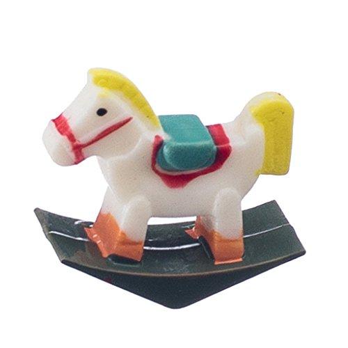 Sharplace 1/12 Miniatura Mobilia Cavallo Dondolo Elegante Decorazione Stanza Bambino Nido Casa Bambole Accessori Multicolore