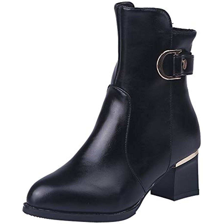 ♥×♥ Femmes Bottines à la Cheville Tube Moyen en en en Daim Bottes de Martin Chaussures Botte à glissière, Boots Moyen... - B07H5HFQFM - 4b5fcd