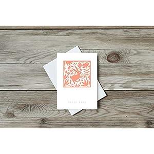 Grusskarte Hallo Baby Hase, Postkarte, Recycling, Mexico, Folk Art, Tiere, Blumen, Geburt, Geschenk, Neugeborene, Geburtstag, Blau, Recycling Papier