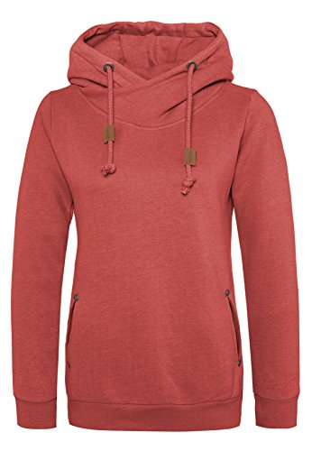 Sublevel Damen Sweathoodie I Sportlich-Eleganter Kapuzenpullover mit hohem Baumwollanteil middle-red XXL
