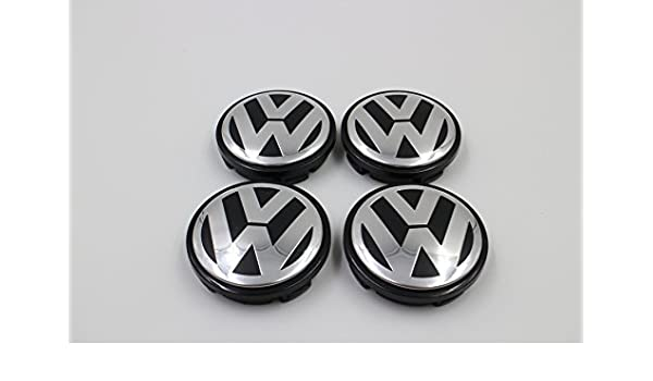 VAG Original Replacement Volkswagen Set of 4 x Centre Caps Alloy Wheels Chrome//Red Edge 5G0601171BLYC