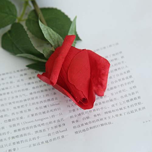Yazidan künstliche Pfingstrose Seidenblume Leaf Blüten Floral Hochzeitsstrauß Blatt Rose mit Blumen Gefälschte Blumen Seidenrosen Plastik Braut Wohnkultur, Parteien, Hochzeiten, Büros, Restaurants