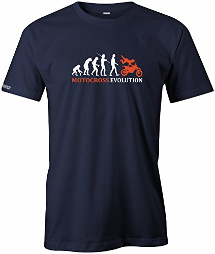 Motocross Evolution - Sport Hobby - Herren T-SHIRT Navy