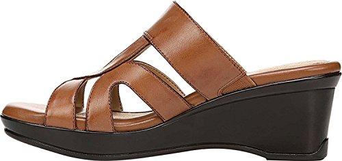 Naturalizer Frauen Vanity Offener Zeh Leger Leder Sandalen Mit Keilabsatz Braun Groesse 7.5 US /38.5 EU - Naturalizer Brown Comfort Sandal