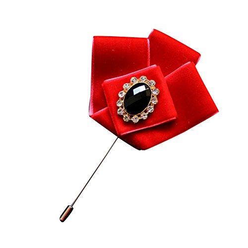 Hochwertiger Samt Streifen M?nner Taschen Tuch Anzug u. Hemd Brosche Revers Pin (Hut Candy Cane)