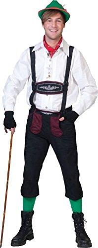 Karneval Klamotten Kostüm Lederhose Herren Trachten-hose Bayer Bayern-hose Tiroler-hose Oktoberfest Bayern Herrenkostüm Größe 56/58 (Erwachsene Weiße Tiroler Kostüme)