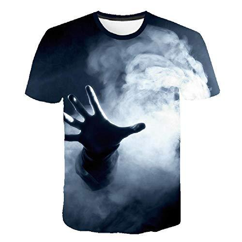 Casual Fashion 3D-T-Shirt, Herren- und Damen-T-Shirt, Coole und Bequeme Sommer-Kurzarmshirt, Horror und Art 6XL - Lee T-shirt Hat