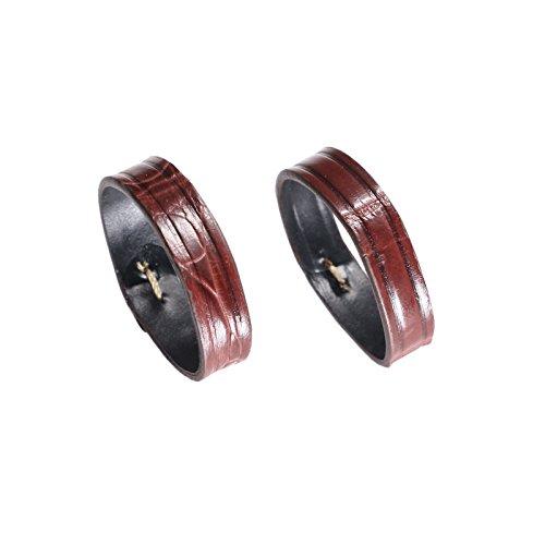 la sostituzione in pelle 20 millimetri anello anello cinturino fibbia in pelle di alligatore marrone (due pezzi una confezione)