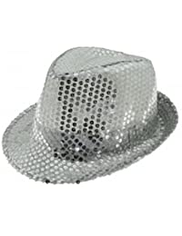 Sequin Trilby - Silver. 64767