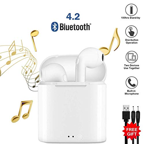 Auriculares Bluetooth, Auriculares Inalámbricos Auriculares Bluetooth 4.1 InEar Auriculares Auriculares Estéreo In-Ear Micrófono Manos Libres Incorporado para Apple Airpods Android/iPhone
