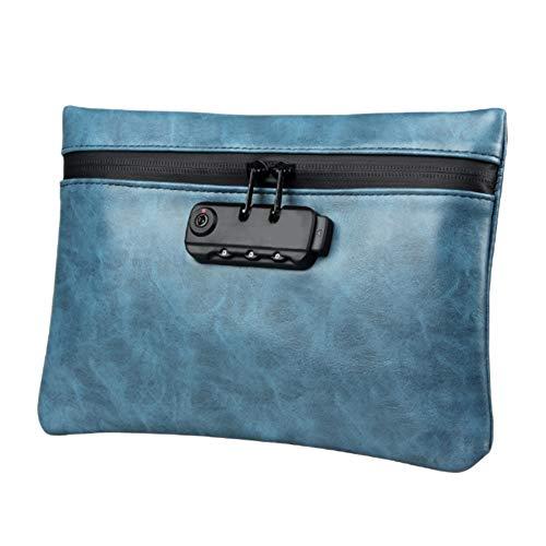 Asdomo Geruchssichere Tasche aus Leder mit Zahlenschloss, geruchlos, geruchsneutral, geruchlos, Geruchs- und Geruchsdichter Behältersack