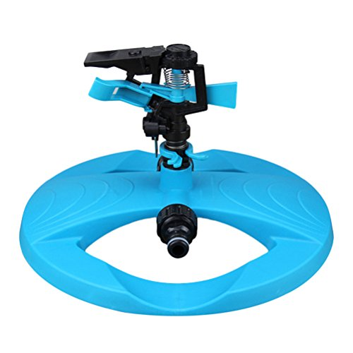 Zhhlaixing 360°Fully Circle Rotating Water Sprinkler Garden Lawn Irrigation Nozzles System,Movable(Blue)