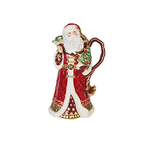 Fitz and Floyd 49-664 Renaissance Holiday Servierschale Santa Servierschale Pitcher Floyd Pitcher