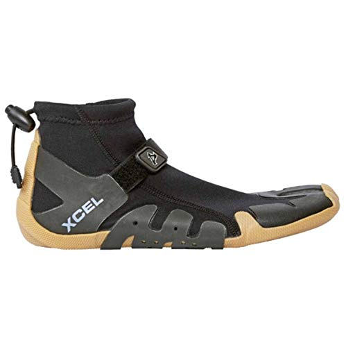 XCEL 1mm 2017 Split Toe Reef Wetsuit Boots UK 6 Black Gum (Surf-wetsuit-boot)