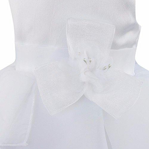 iEFiEL Babybekleidung Baby-Mädchen Prinzessin Kleid Festzug Taufkleid Hochzeit Partykleid Weiß 62-68 (Herstellergröße:60) - 3