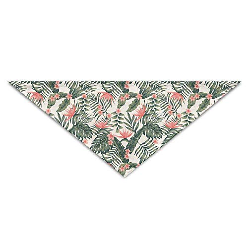 Gxdchfj Tropical Dark Green Leaves of Palm Trees Triangle Pet Scarf Dog Bandana Pet Collars for Dog Cat - ()