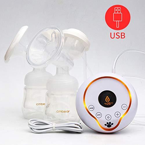 Tiralatte elettrico Portatile Pompa di allattamento a doppia aspirazione 2 modalità, 9 livelli Schermo LCD USB ricaricabile Pompa per latte elettrica Massaggiatore seno Tiralatte silenzioso,Lcdscreen