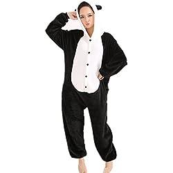 Misslight Unicornio Pijamas Animal Ropa de dormir Cosplay Disfraces Kigurumi Pijamas para Adulto Niños Juguetes y Juegos (L, Panda)