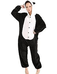 jysport unicornio pijama Kigurumi Unisex con capucha de forro polar Animal traje de Cosplay pijama para niños, Ladie, hombre, panda, XL: 178-188cm