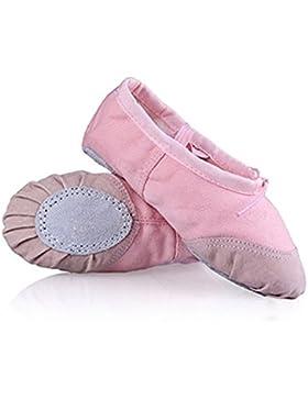 YOGLY Zapatos de Baile Para Niñas Ballet Danza Suelas Blandas, Cómodos Profesional Bailarina Zapatos Transpirables...