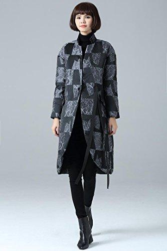 Giubbotto invernale allungato lungo Wram Giacche donna giù gray