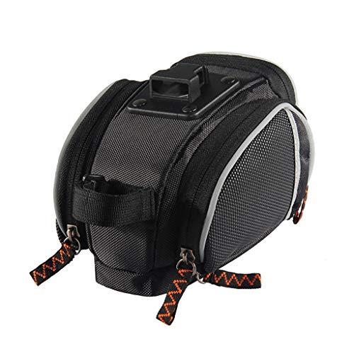 HWB Sattel tasche,Sattel Bike Bag Compact Fahrradsattel Keil Pack Wasserdicht Satteltasche Umhängetasche Werkzeuge Pocket Pack (Farbe : Schwarz)