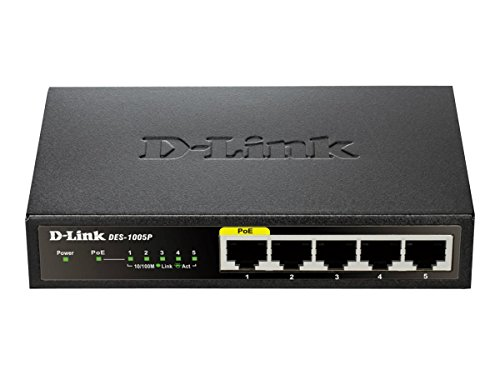 D-Link 5 Port 10/100 Unmanaged Desktop Switch with one PoE Port (DES-1005P)  available at amazon for Rs.5909