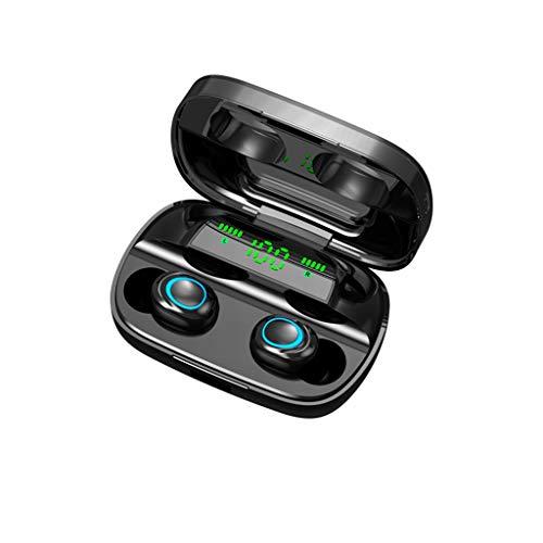 CAOQAO Blueteeth 5.0 Casque sans Fil Sport éCouteurs Mini-éCouteurs Casque StéRéO, éLéGant éCouteur éTudiant éLéGant, ÉCouteur StéRéO RéDuction du Bruit Casque Bluetooth (Noir)
