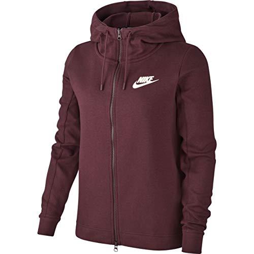 Nike Damen Optic Hoodie Full Zip Kapuzenjacke, Burgundy Crush/Sail, M Nike Zip-hoodies