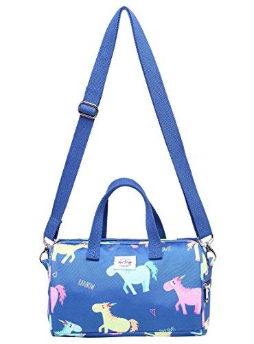 MIETTE Mädchen Mini Umhängetasche Schultertasche Kleine Handtasche, Einhörner, Blau