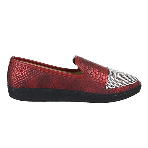 Chaussures pour femme, ja54, halbschuhe Chaussons Rouge - Rouge