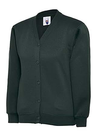 d1c6c107426 Girls Cardigan School Uniform Kids Premium Sweater Sweatshirt Age 2 ...