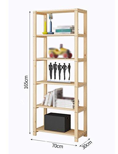 Estantería Estantería de madera maciza Estantería de almacenamiento Múltiples capas Dormitorio Cocina ( Tamaño : 70*30*165cm )