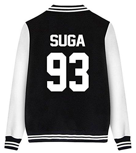 Unisex Hip Hop KPOP BTS Fans Baseball Mode Bedruckt Jacket Baseballjacken Bomberjacke XL