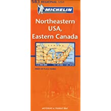 Carte RGIONAL Northeastern USA, Eastern Canada