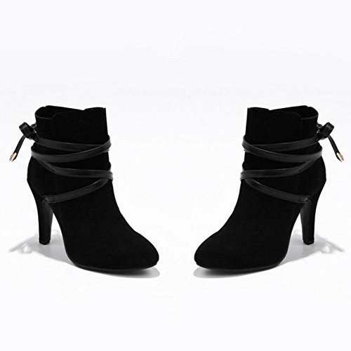 RAZAMAZA Donna Moda Stivali Tacco Alto Black