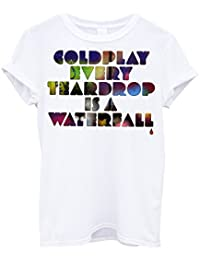 Camiseta Hombre - Coldplay camiseta con stampa pop rock band 100% algodone LaMAGLIERIA