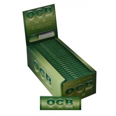 Ocb Verdi n.8 Ecologiche Cartine Corte Scatola 50 pacchetti