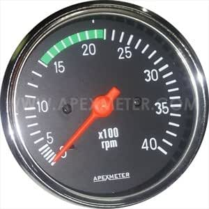 Electronic Tachometer 0-6000 Rpm ignition coil or alternator Driven Cockpit 52mm Chrome FR