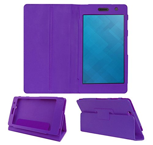 Acm Executive Leather Flip Case For Dell Venue 7 3741 Tablet Front & Back Flap Cover Stand Holder Purple  available at amazon for Rs.219