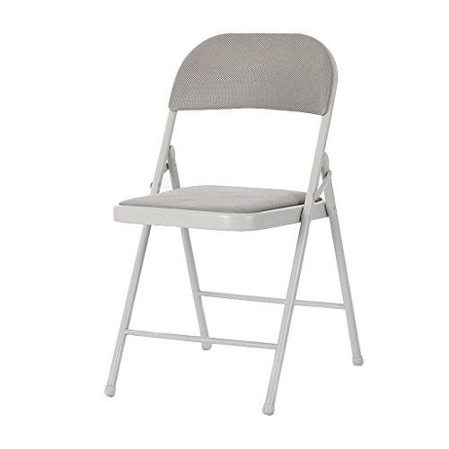 Chaises Chaise Pliante éponge de Tissu de Maille remplissant la Chaise de Dossier de Bureau d'ordinateur à la Maison Confortable Respirable (A++) (Couleur : Gray)
