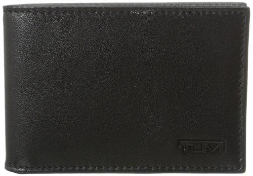 Tumi Men's Delta Slim Single Billfold, Black, One Size - Tumi Code 118631