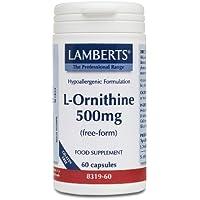 ORNITHINE HCL 500mg 60cap LAMBE 60 CAP.