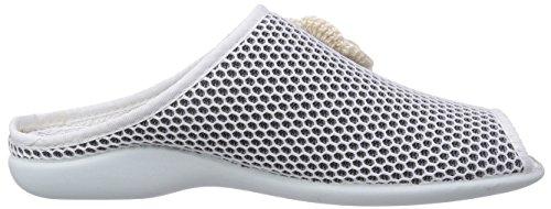 Florett Paula, Pantofole donna Bianco (Weiß (70/weiß))