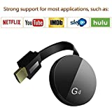 (2019 Newest) Wireless Display Dongle Receiver - High Speed HDMI Miracast Dongle for Android Smartphone Tablet Apple iPhone iPad, TV,1080P Wireless HDMI Dongle (Black)
