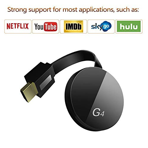 Dongle inalámbrico con Pantalla WiFi, 1080P HD Adaptador inalámbrico WiFi Dongle HDMI Compatible con DLNA Airplay Miracast para Android Tablet iPhone iPad Pixel Nexus, Wireless HDMI Dongle