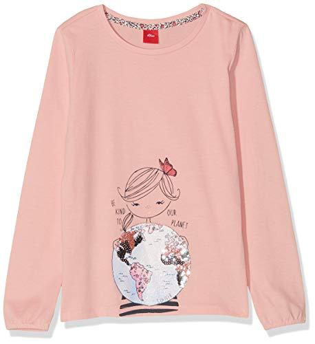 s.Oliver Mädchen 53.908.31.8662 T-Shirt, Rosa (Light Pink 4273), 116 (Herstellergröße: 116/122/REG)
