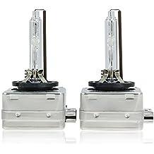 Sipobuy D1S D1R D1C 35W 6000K Lámpara de Xenón de Faros Bombilla HID Xenon luz luces de Coche Coches Blanco AC 12V, (Pack of 2)